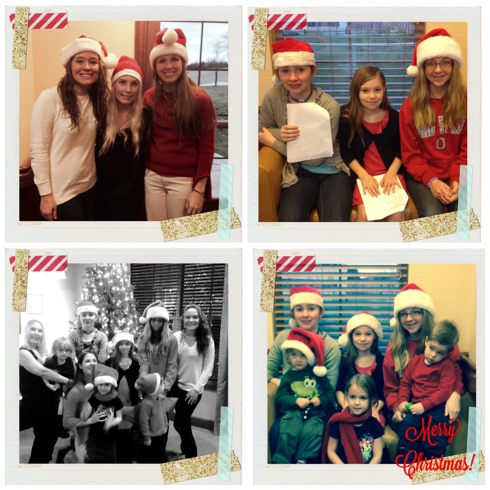 Christmas caroling with kids